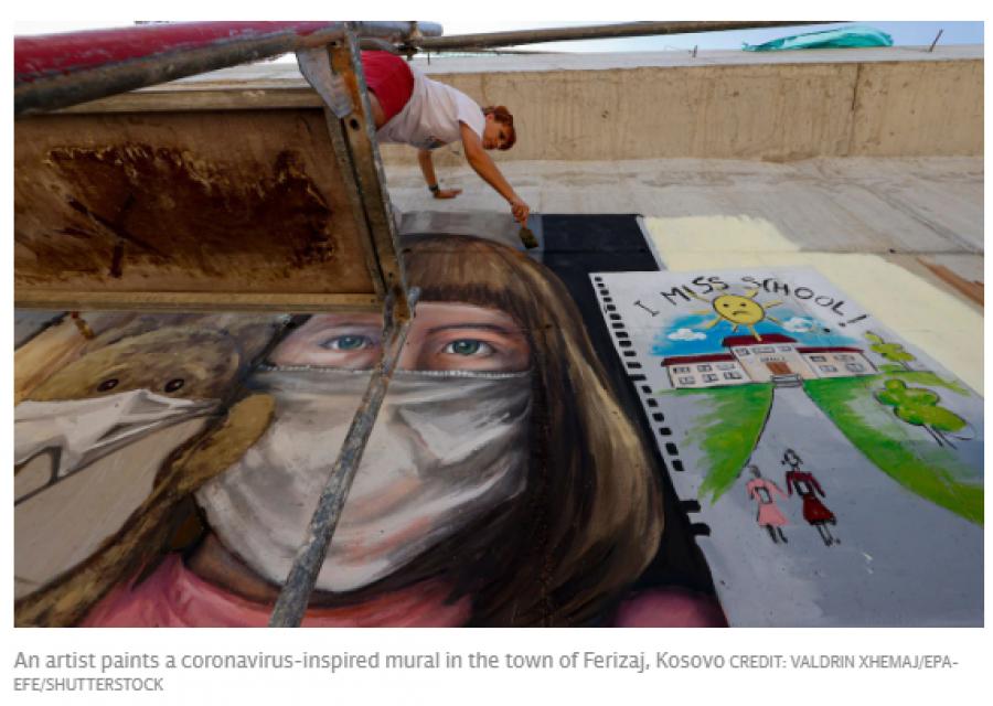 auto fest15908631821 - Murali për pandeminë në Ferizaj zë vend në mediumin prestigjioz britanik