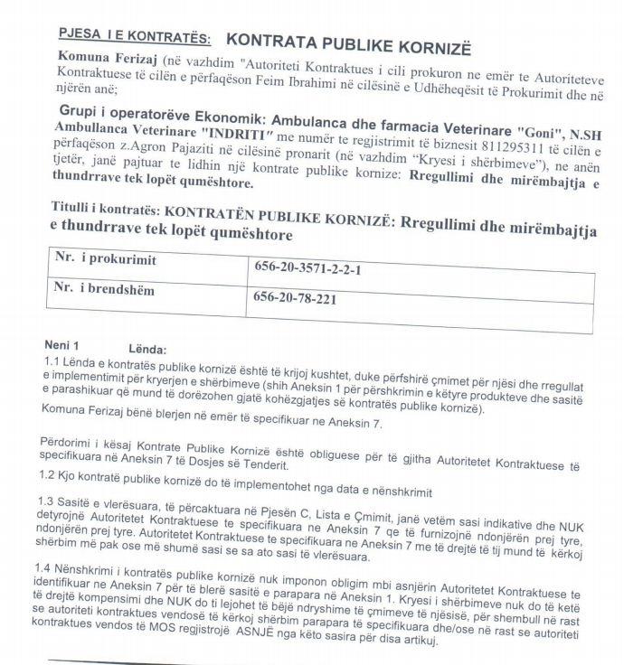 2 16 - Ferizaji shpenzon 30 mijë euro për mirëmbajtjen e thundrave të lopëve qumështore