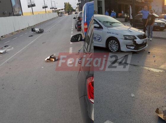 WP 41 1 560x416 - Aksident në Ferizaj: Goditet një motoçiklist nga një taksist (FOTO)