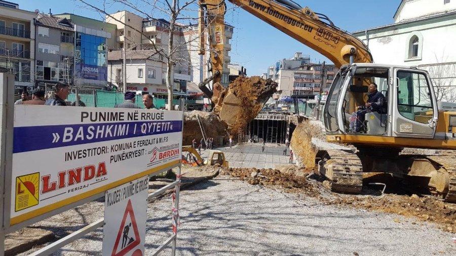 """w 15 - Komuna e Ferizajt ndërton 200 vend-parkingje nëntokësore në projektin """"Bashkimi i Qytetit"""""""