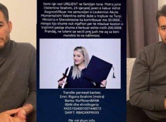 auto 44444416058153091 560x412 - Grumbulloi para për shërimin e saj, Labinot Tahiri flet mes lotësh pas vdekjes së Valentina Ibrahimit