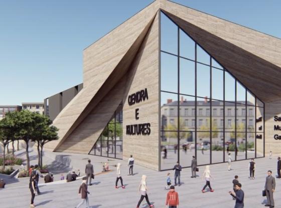 qendra e kultures 560x416 - Kështu do të duket Pallati i Kulturës në Ferizaj, projekti milionësh i Ministrisë së Kulturës