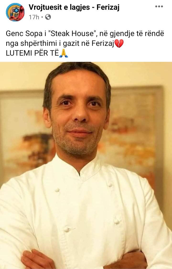 20210106 154407 - Ky është pronari i restorantit në Ferizaj që ndodhi shpërthimi (Foto)