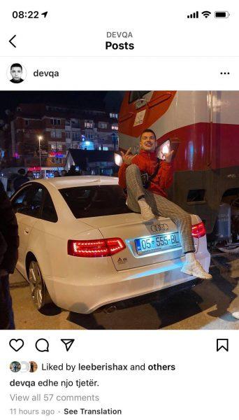 1234 - I riu që u aksidentua me trenin në Ferizaj dhe pastaj bëri foto mbi veturë, është reperi kosovar