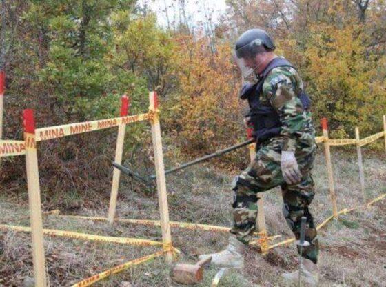 mjete i pashperthyer1 560x416 - Gjendet mjet i dyshuar shpërthyes në Greme të Ferizajt