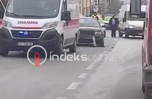 w 10 - Aksident trafiku në Doganaj të Ferizajt, dy persona të lënduar