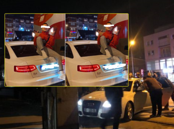 w 2 560x416 - I riu që u aksidentua me trenin në Ferizaj dhe pastaj bëri foto mbi veturë, është reperi kosovar