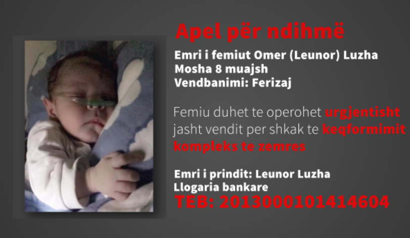 Screenshot 7791 - Omer Luzha nga Ferizaj ka nevojë për ndihmë, operimi duhet të kryhet me urgjencë në zemër, për dy javë