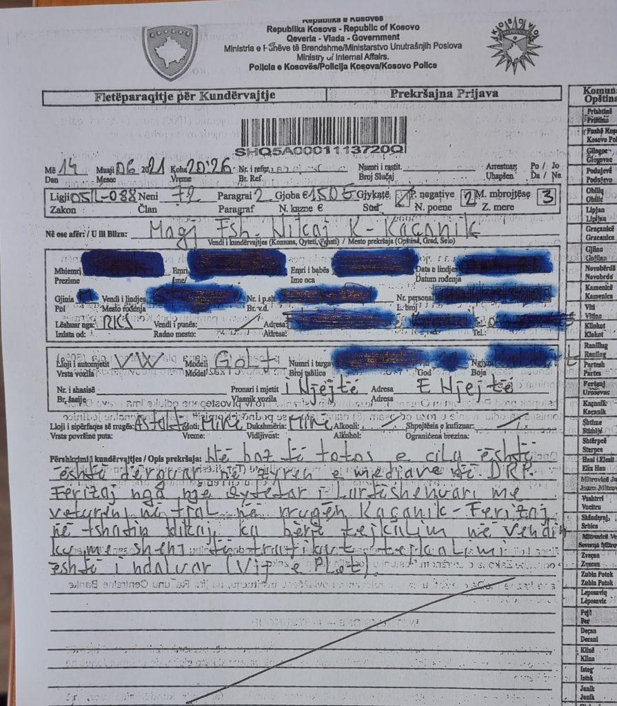 201241162 4210369339023570 7372584818162316867 n 895x10241 1 - Vazhdojnë dënimet për vozitësit që tejkalojnë në vijë të plotë, gjobitet 35 vjeçari në Ferizaj